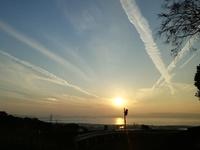 大村湾の夕日を見ながら